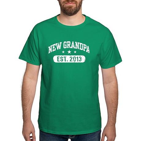 New Grandpa Est. 2013 Dark T-Shirt