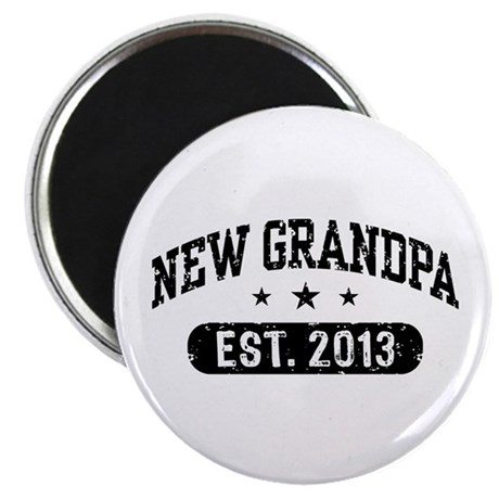 New Grandpa Est. 2013 Magnet