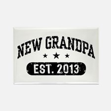 New Grandpa Est. 2013 Rectangle Magnet
