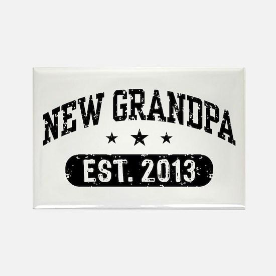 New Grandpa Est. 2013 Rectangle Magnet