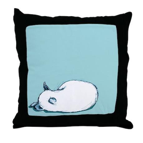 small sleeping dog throw pillow by lisaannwilson