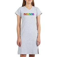 Happy Rainbow Cats Women's Nightshirt