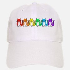 Happy Rainbow Cats Baseball Baseball Cap
