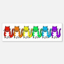 Happy Rainbow Cats Sticker (Bumper)