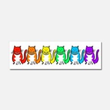 Happy Rainbow Cats Car Magnet 10 x 3