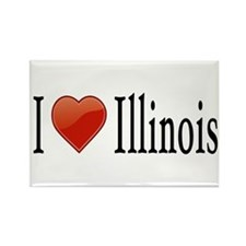 I Love Illinois Rectangle Magnet