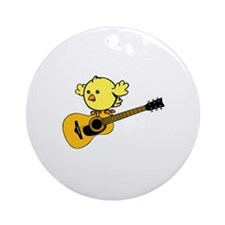 Guitar and Chick. Ornament (Round)