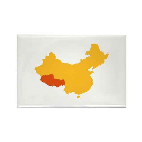 Tibet China map Rectangle Magnet
