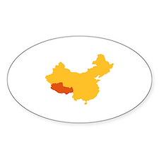 Tibet China map Decal