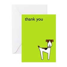 graphic terrier (green) Greeting Cards (Pk of 10)