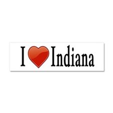 I Love Indiana Car Magnet 10 x 3
