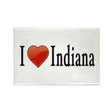 I Love Indiana Rectangle Magnet