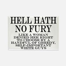 Hell Hath No Fury Rectangle Magnet