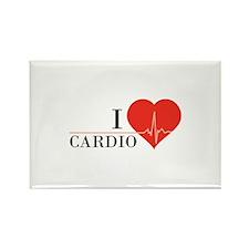 I love Cardio Rectangle Magnet