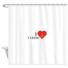 I love Cardio Shower Curtain