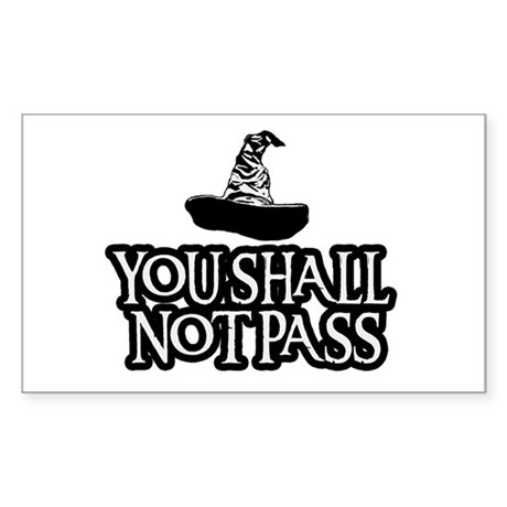 You Shall Not Pass Gandalf Sticker Rectangle