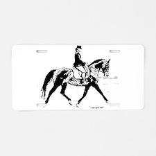 AFTM Dressage BW Aluminum License Plate