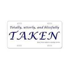 Taken Aluminum License Plate