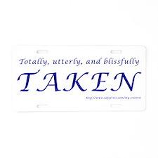 Taken Aluminum License Plate