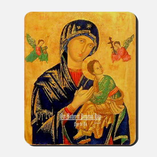Our Mother of Perpetual Help Byzantine Mousepad