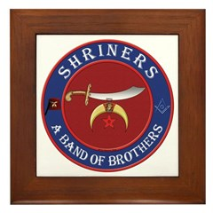 Shrine Brothers. Framed Tile