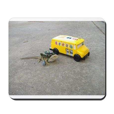Spiny the Lizard back to school Mousepad