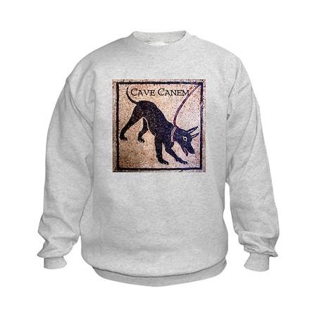 """""""Cave Canem"""" Kids Sweatshirt"""