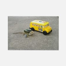 Spiny the Lizard back to school Rectangle Magnet