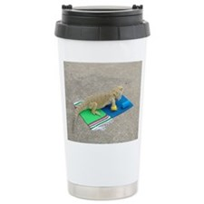 Yoga Spiny the Lizard Travel Coffee Mug