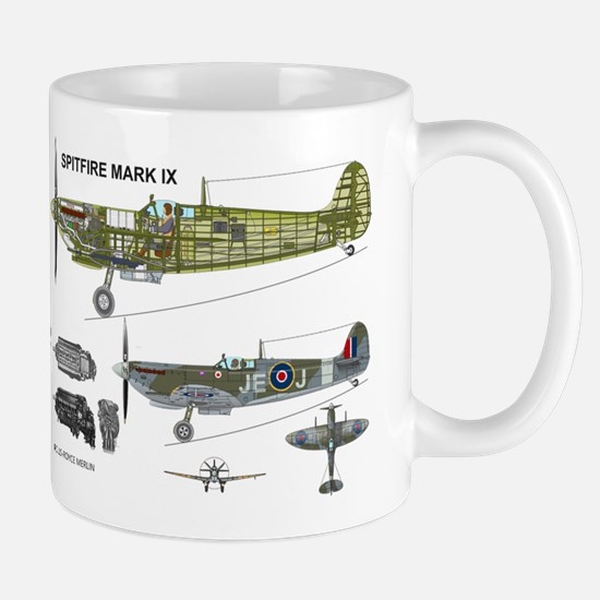 Spitfire Cutaway En398 Mug Mugs