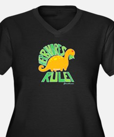 Herbivores Rule! Women's Plus Size V-Neck Dark T-S