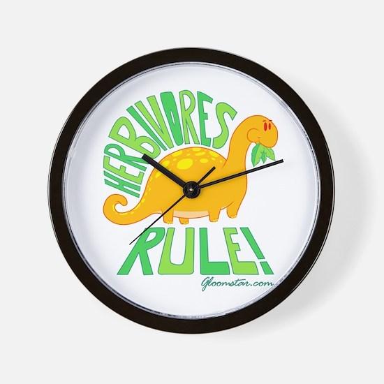 Herbivores Rule! Wall Clock