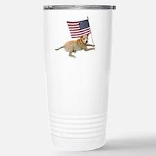American Flag Pit Bull Stainless Steel Travel Mug