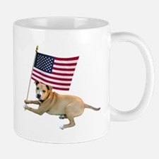 American Flag Pit Bull Mug