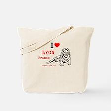I Love Lyon, France and lion Tote Bag