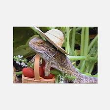 Gardener Spiny the Lizard Rectangle Magnet