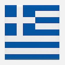 Flag of Greece Tile Coaster