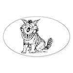 Crazy Dog Sticker (Oval 10 pk)