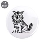 """Crazy Dog 3.5"""" Button (10 pack)"""