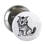 """Crazy Dog 2.25"""" Button (10 pack)"""