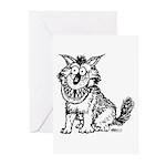Crazy Dog Greeting Cards (Pk of 20)