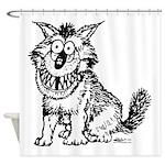 Crazy Dog Shower Curtain