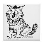 Crazy Dog Tile Coaster