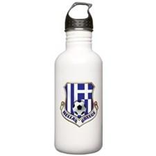 Greek Soccer Shield Water Bottle