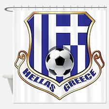 Greek Soccer Shield Shower Curtain