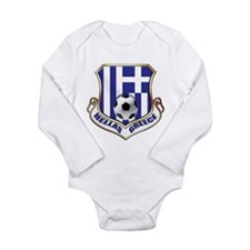 Greek Soccer Shield Long Sleeve Infant Bodysuit