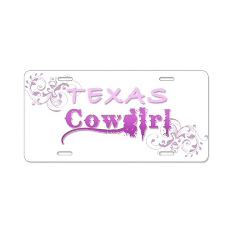 Texas Cowgirl (Pink) Aluminum License Plate