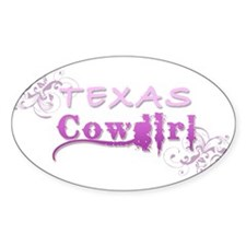 Texas Cowgirl (Pink) Decal