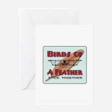 Blue Sky Birds Greeting Card