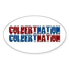 COLBERT NATION Oval Decal